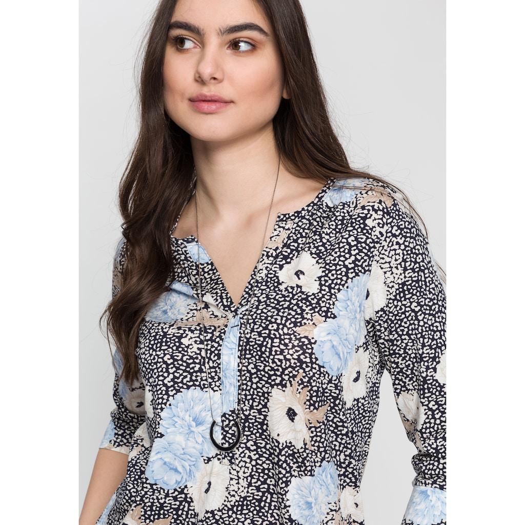 soyaconcept 3/4-Arm-Shirt »SC-FELICITY302«, mit Blüten Muster
