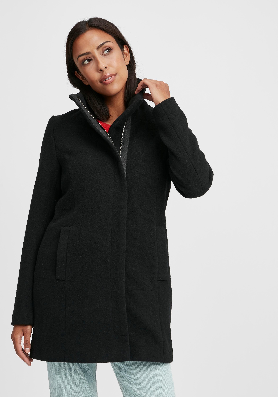 oxmo -  Wollmantel Wolke, Mantel mit hohem Kragen