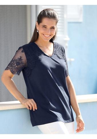 m. collection Spitzenshirt, mit Spitze im Schulterbereich und an den Ärmeln kaufen