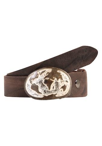 RETTUNGSRING by showroom 019° Ledergürtel »Wasserbüffel«, mit antiker Welt-Schließe kaufen