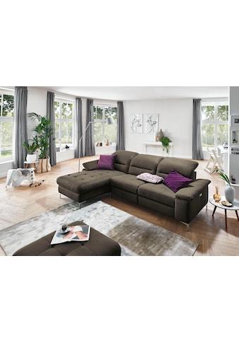 Places of Style Ecksofa »Basel«, wahlweise mit vollmotorischer Relaxfunktion und... kaufen