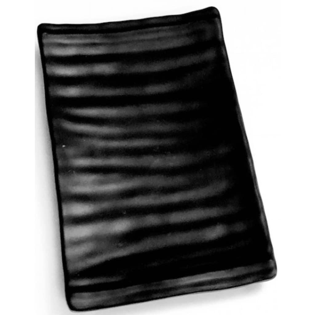 Q Squared NYC Servierplatte »Melamin Servierplatte«, (Set, 2 tlg., 2 x Servierplatte), ideal für Vorspeisen