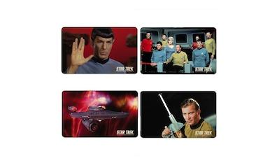 LOGOSHIRT Frühstücksbrettchen im 4er - Set mit Star Trek - Motiven kaufen