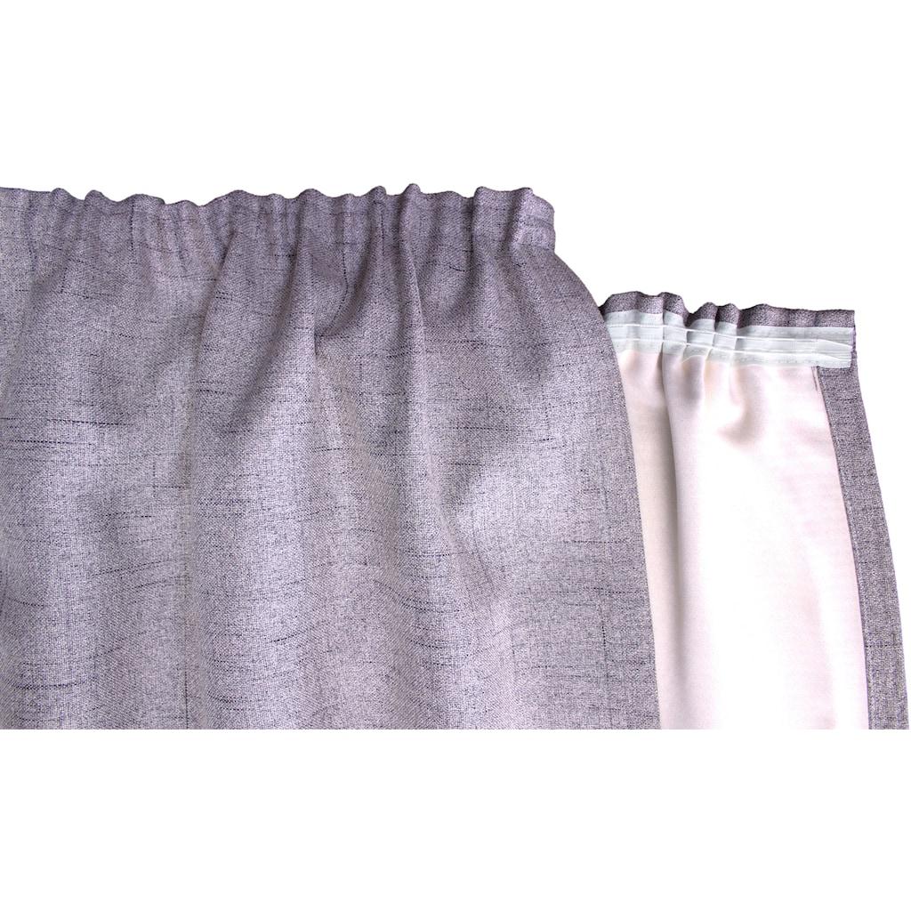 VHG Vorhang nach Maß »Rustika«, Vorhang Wunschmaß,Struktur, Breite: 145 cm