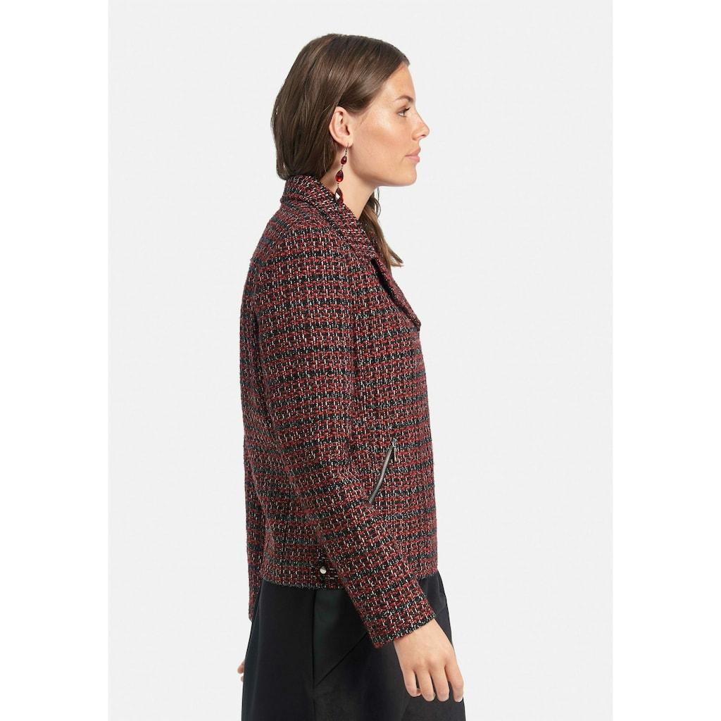 Emilia Lay Jackenblazer »Bouclé-Jacke«, mit mit Reißverschluss-Taschen