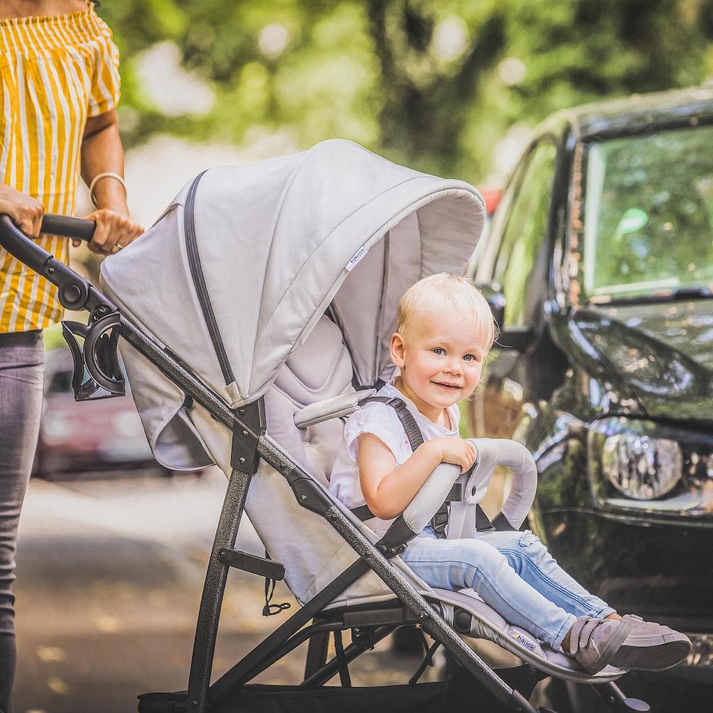 Hauck Kombi-Kinderwagen »Rapid 4S Lunar Stone«, mit schwenk- und feststellbaren Vorderrädern; Kinderwagen