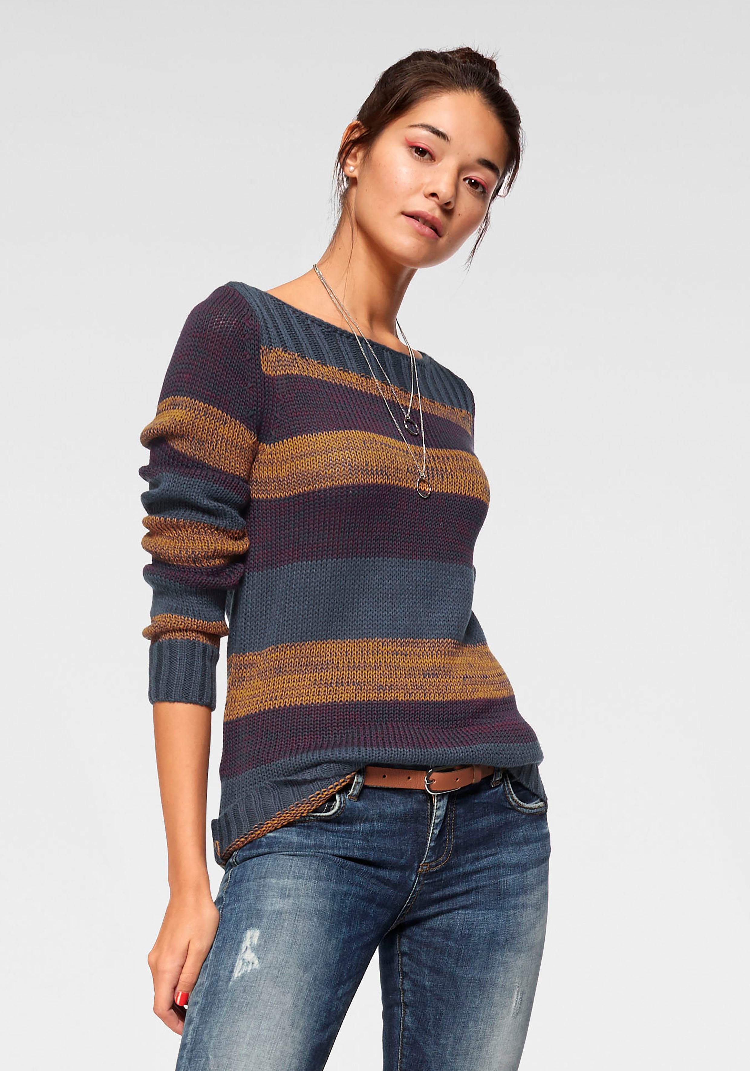 AJC Streifenpullover | Bekleidung > Pullover > Streifenpullover | Blau | Ajc