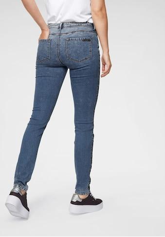 Aniston CASUAL Skinny-fit-Jeans, mit seitlichem Pailletten-Streifen kaufen