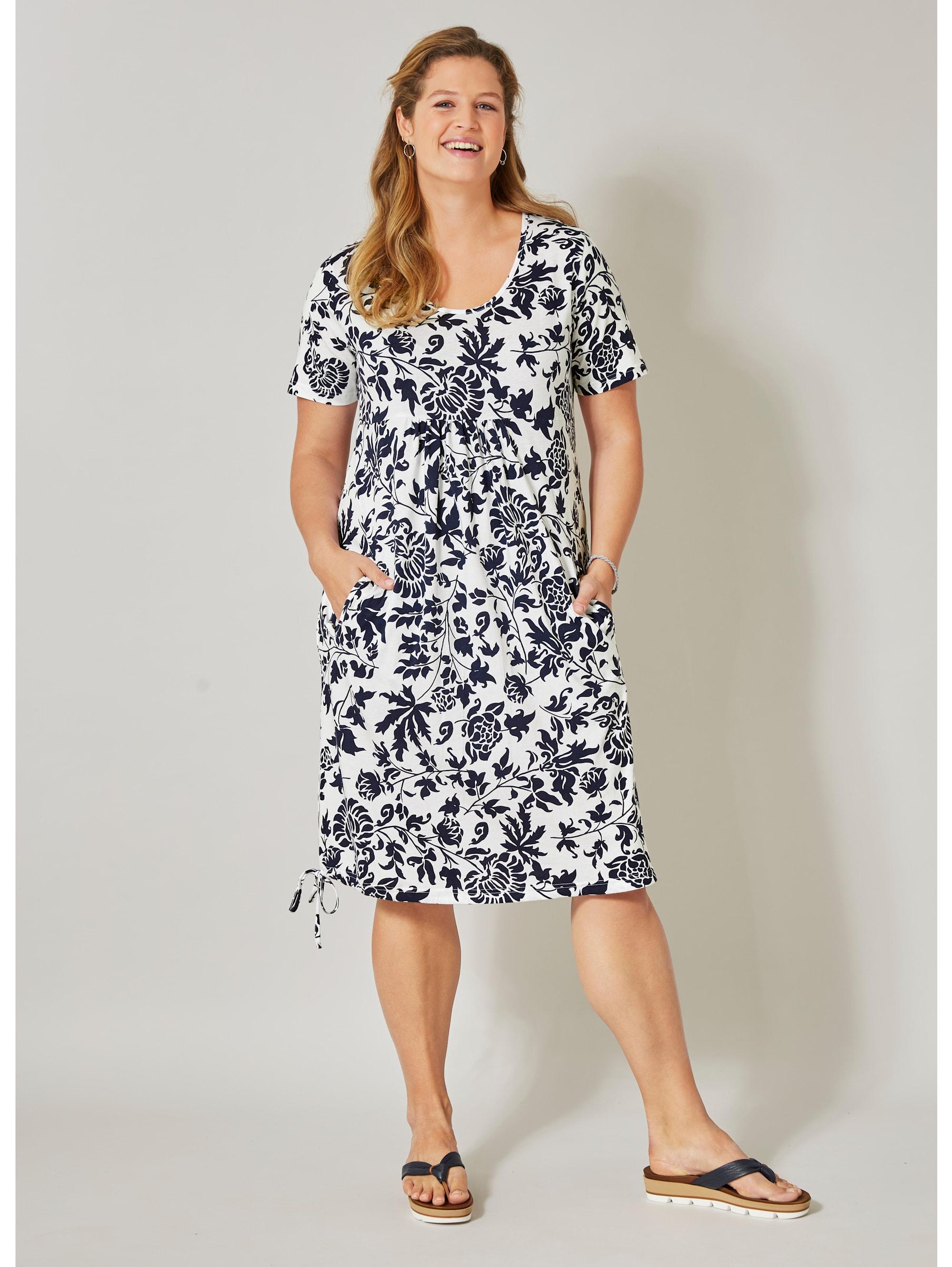 janet & joyce by happy size -  Jerseykleid mit Blumen-Print