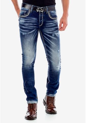 Cipo & Baxx Slim-fit-Jeans, im Worn Washed Look in Straight Fit kaufen