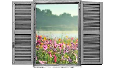 queence Wandtattoo »Feld von rosa Blumen« (1 Stück) kaufen