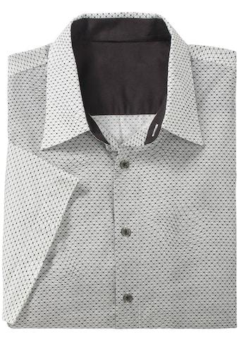 Marco Donati Kurzarm - Hemd mit feinem grafischem Allover - Muster kaufen