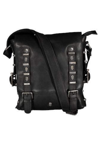 JACK'S INN 54 Umhängetasche »Jack Gibson«, aus hochwertigem Leder mit Totenkopf... kaufen