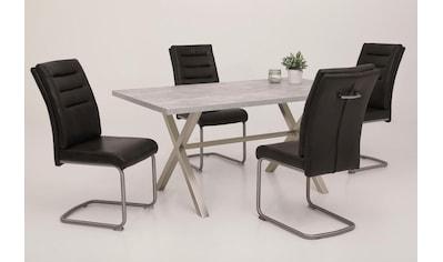 HELA Essgruppe »Paula«, (5 tlg.), Bestehend aus 4 Stühlen ohne Armlehne 1 Esstisch kaufen