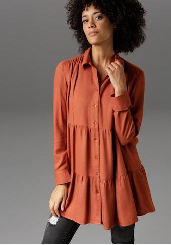 Aniston CASUAL Longbluse, mit Volants - NEUE KOLLEKTION kaufen