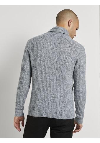 TOM TAILOR Schalkragenpullover »Schalkragen - Pullover mit Struktur« kaufen