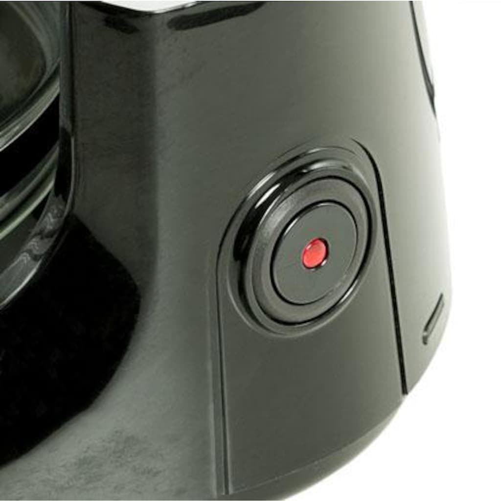 exquisit Filterkaffeemaschine »KA 3101 sw«, Permanentfilter, 1x4