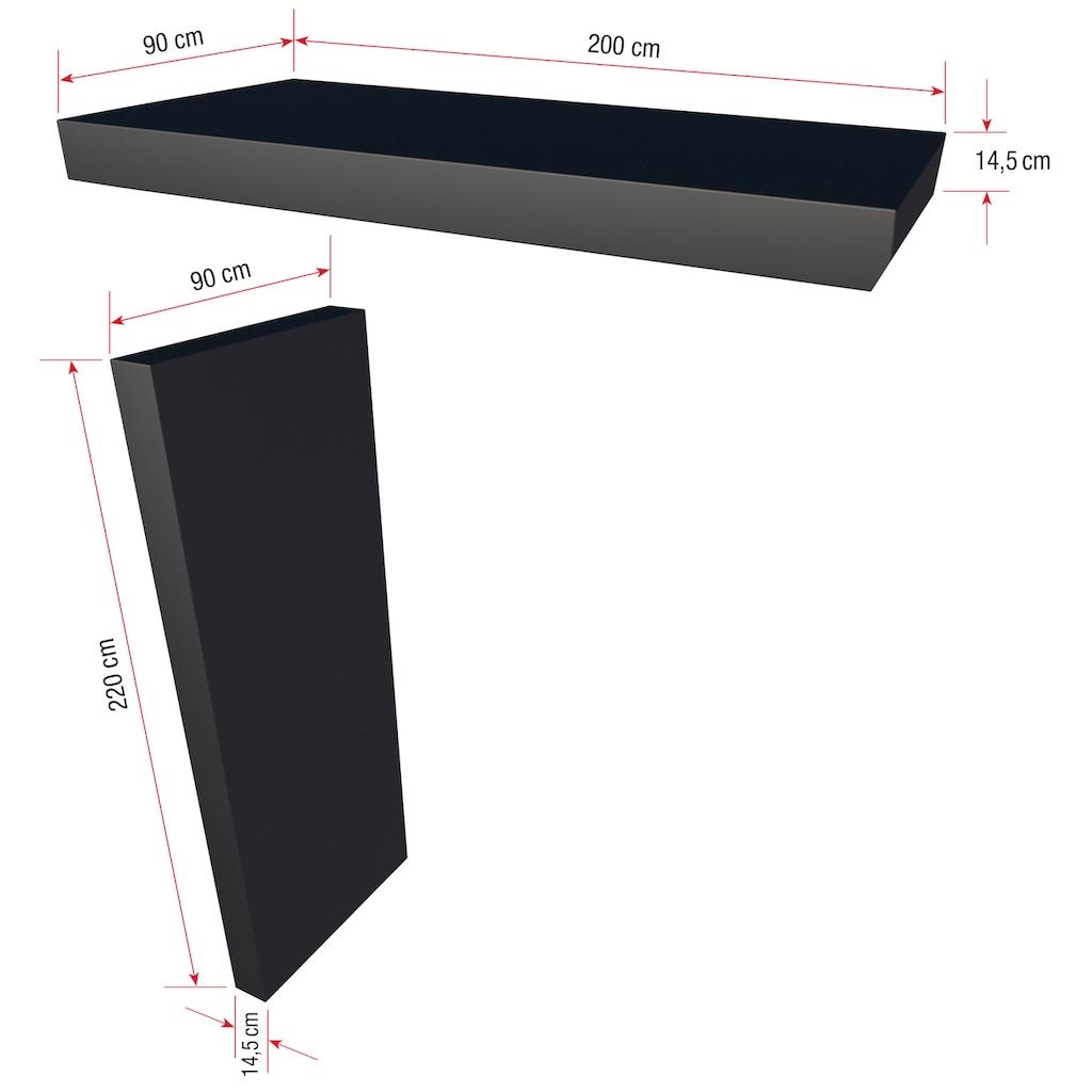 GUTTA Rechteckvordach »BS Plus«, mit Seitenteil links, Briefkasten, BxTxH: 200x90x234,5 cm