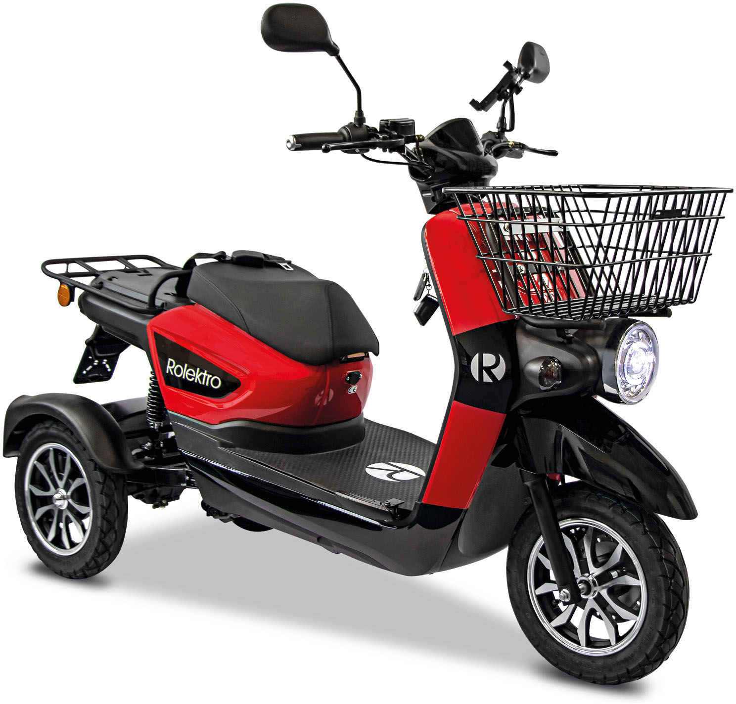 rolektro elektromobil rolektro e carrier 25 v 3 lithium ohne koffer 1000 w 25 km h korb - HASE Pino Steps E6000