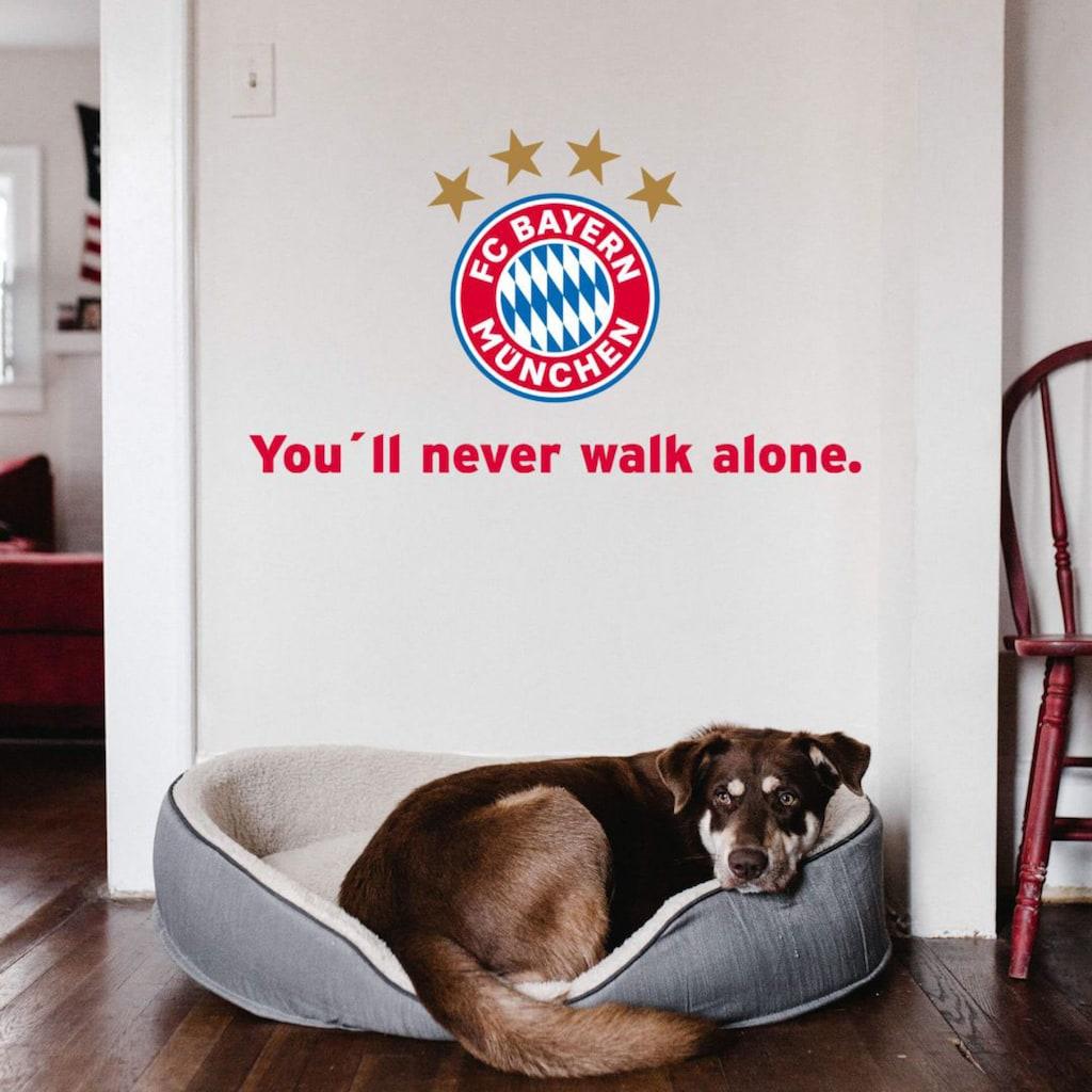 Wall-Art Wandtattoo »Fußball You'll never walk alone«