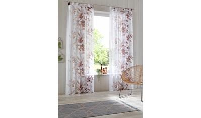 Home affaire Gardine »Ina«, transparent, einseitig bedruckt, Voile kaufen