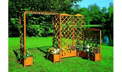 PROMADINO Holzspalier mit Pflanzkasten, BxTxH: 69x32x210 cm kaufen