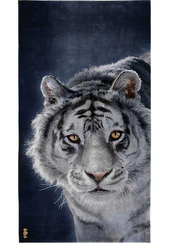Seahorse Strandtuch »Blaze«, (1 St.), mit weißem Tiger Aufdruck kaufen