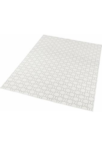 freundin Home Collection Teppich »Novalie«, rechteckig, 4 mm Höhe, Flachgewebe, Allover Design, Wohnzimmer kaufen