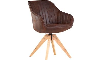 Gutmann Factory Drehstuhl »Chill«, Esszimmerstuhl, Armlehnstuhl mit bequemer Polsterung kaufen