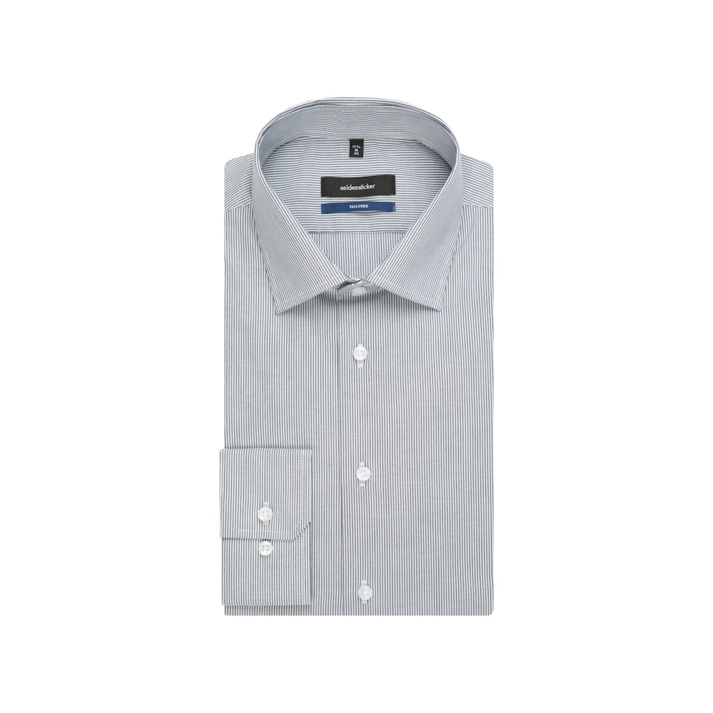 seidensticker Businesshemd »Shaped«, Shaped Extra kurzer Arm Kentkragen Streifen