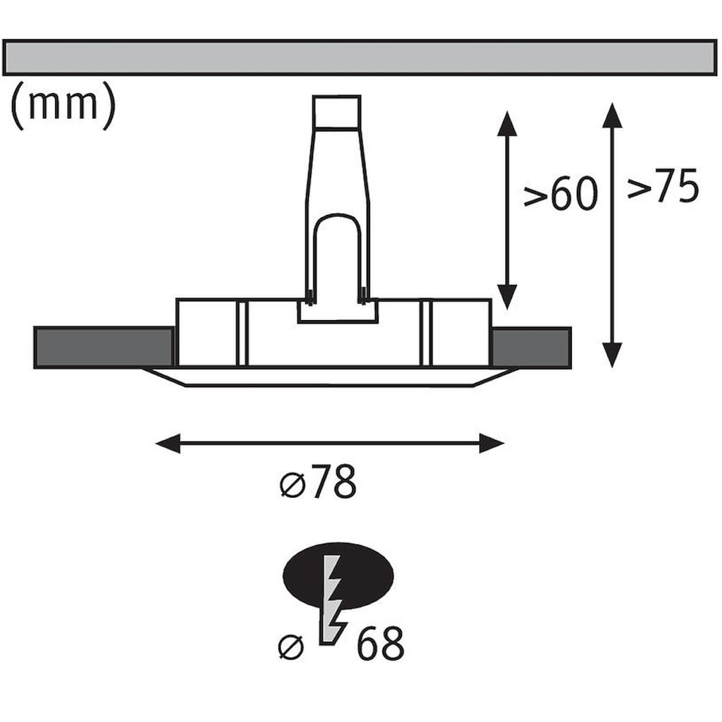 Paulmann LED Einbaustrahler »Nova rund 1x6,5W GU10 Eisen gebürstet starr 3-Stufen-dimmbar«, GU10
