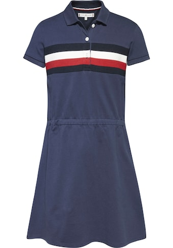 TOMMY HILFIGER Jerseykleid »PIQUE POLO DRESS S/S«, Polokleid mit Einsätzen kaufen