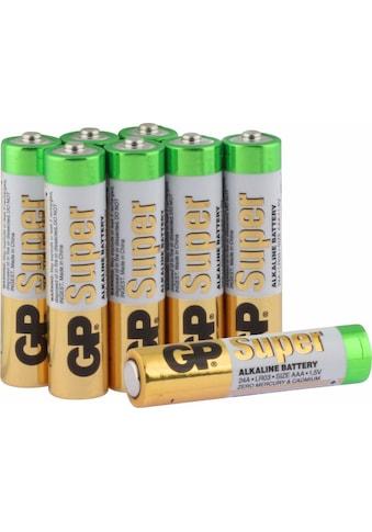 Batterie »Super Alkaline AAA - 8 Batterien«, LR03, 1,5 V, (Packung) kaufen