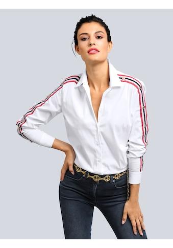 Alba Moda Bluse mit Ziernieten am Arm kaufen