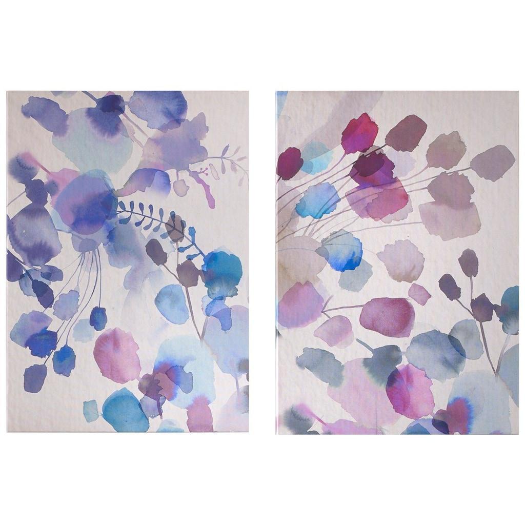 Art for the home Leinwandbild »Expressive Blooms«, Blumen, (2 St.)