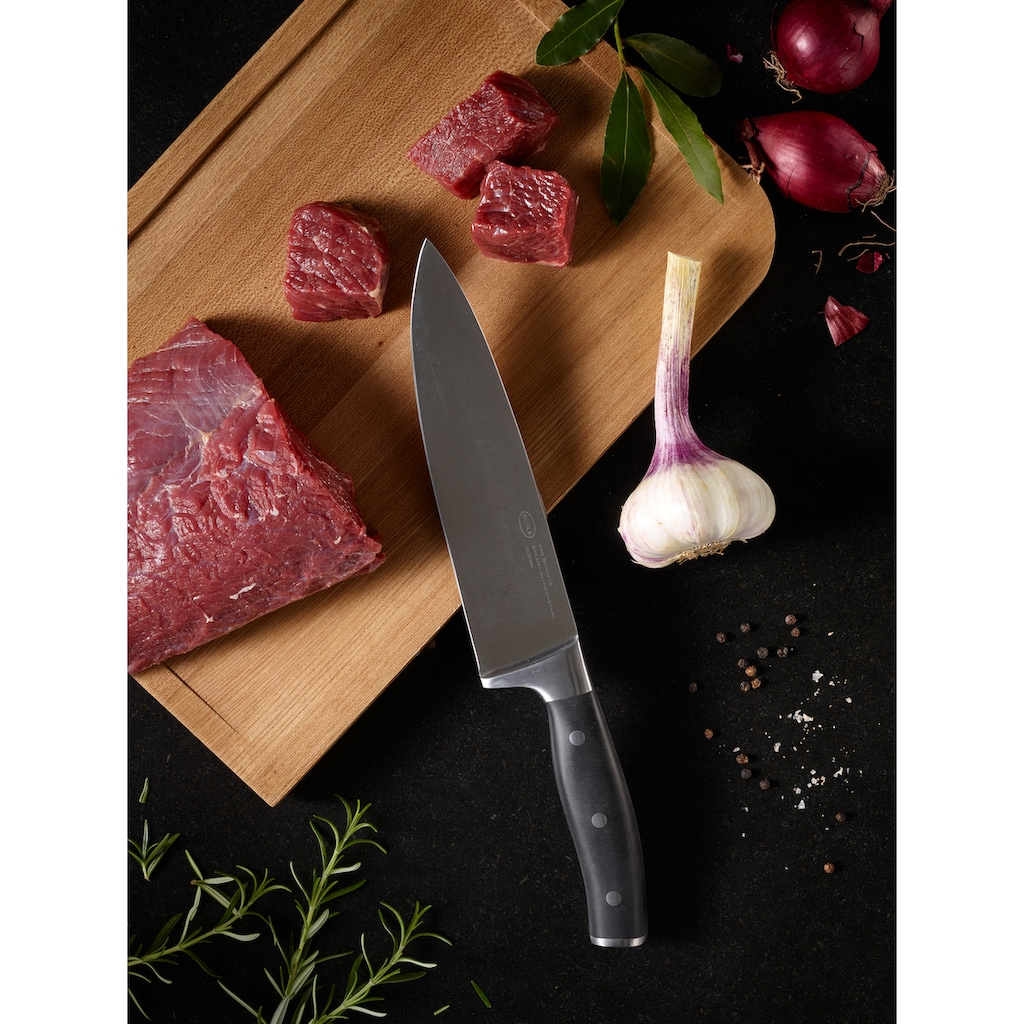 RÖSLE Kochmesser »Tradition«, (1 tlg.), scharfes Küchenmesser zum Schneiden von Fleisch, Fisch, Geflügel und Gemüse, Klingenspezialstahl, ergonomischer Griff