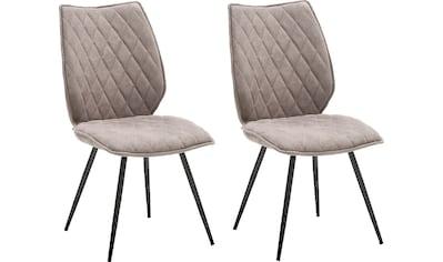 MCA furniture 4-Fußstuhl »Navarra«, 2-er Set mit Stoffbezug in... kaufen