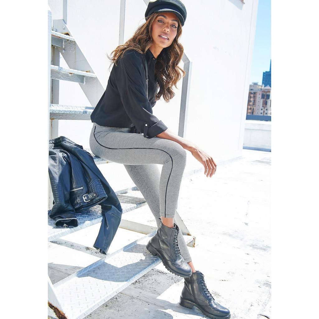 LASCANA Leggings, mit Pepita Muster