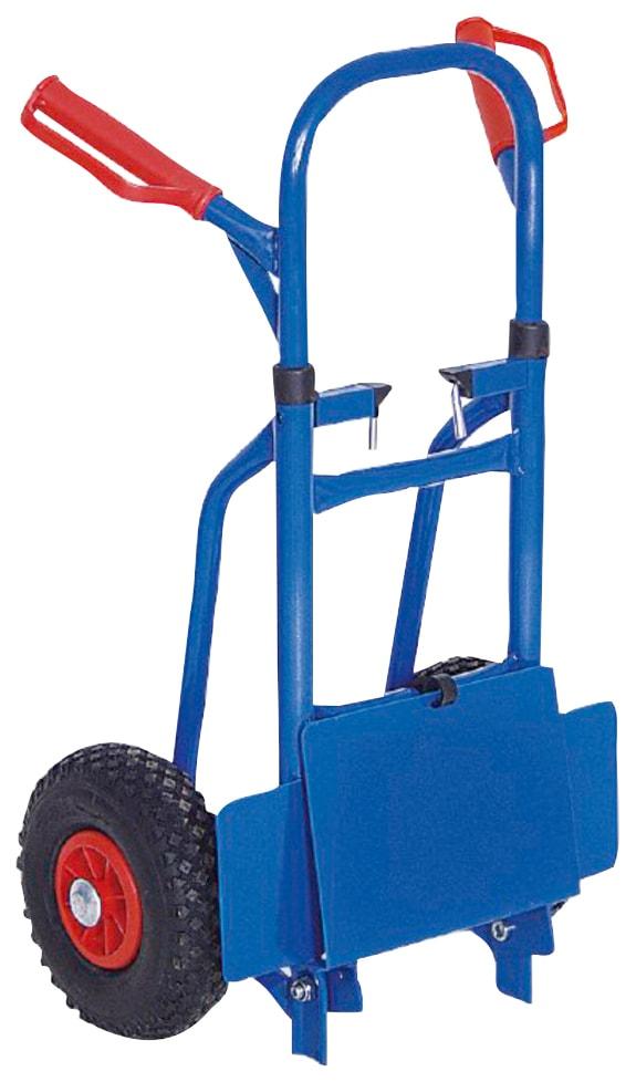 Sackkarre, klappbar, belastbar bis 150 kg blau Sackkarren Transport Werkzeug Maschinen Sackkarre