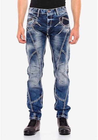 Cipo & Baxx Bequeme Jeans, mit trendigen Ziernähten kaufen