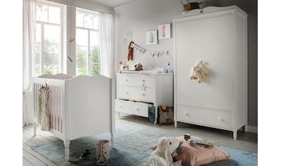 Fantasykids Babyzimmer-Komplettset, (3 St., Bett + Wickelkommode + 2-trg. Schrank) kaufen
