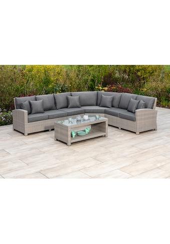MERXX Gartenmöbelset »Arona«, (2 tlg.), 1 Rundecke mit Tisch und Kissen kaufen