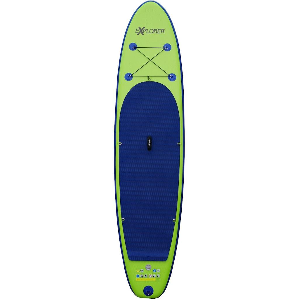 EXPLORER Inflatable SUP-Board »EXPLORER 320«, (mit Paddel, Pumpe und Transportrucksack)