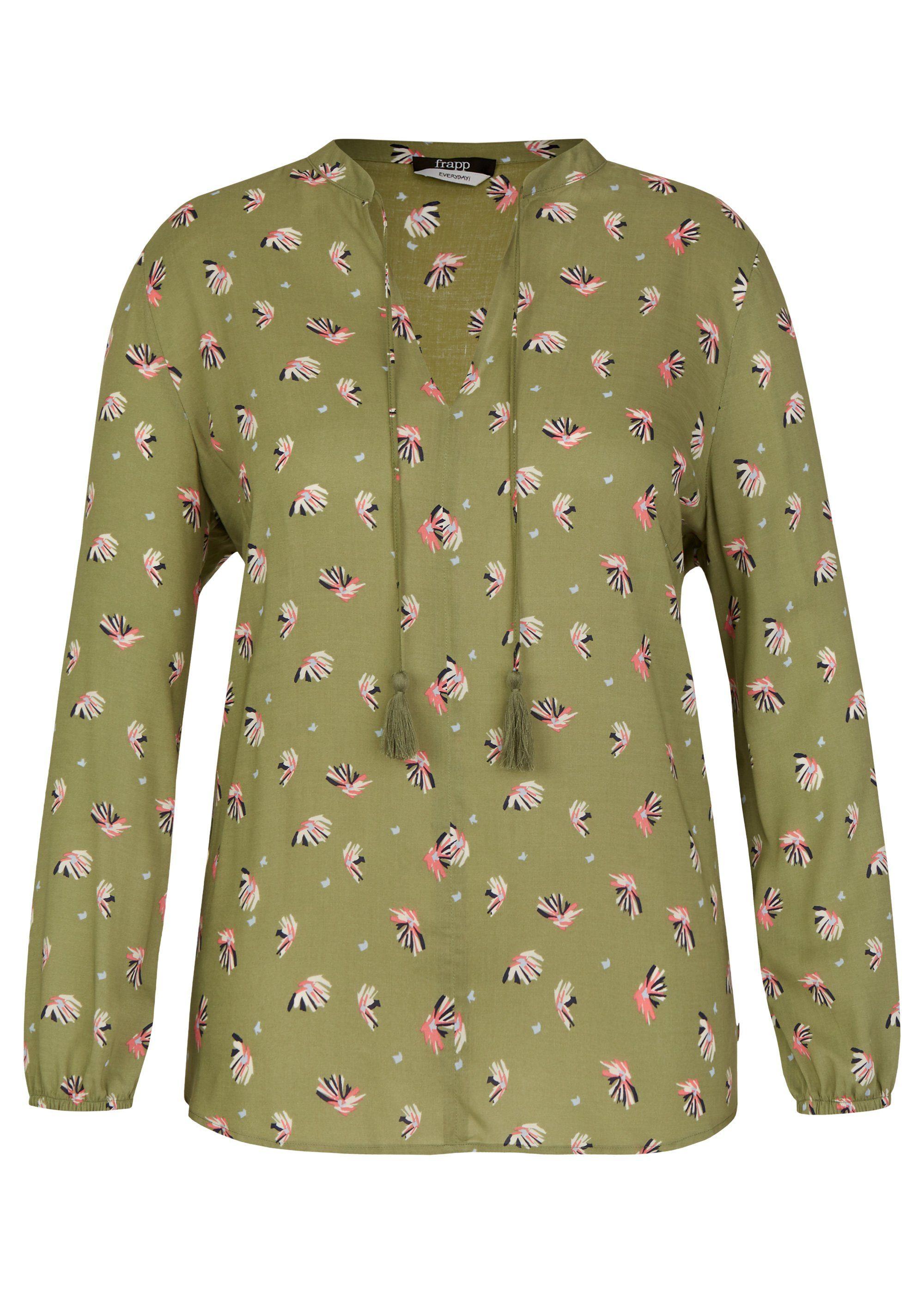 FRAPP Verspielte Bluse mit Allover-Print