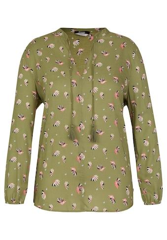 FRAPP Verspielte Bluse mit Allover - Print kaufen
