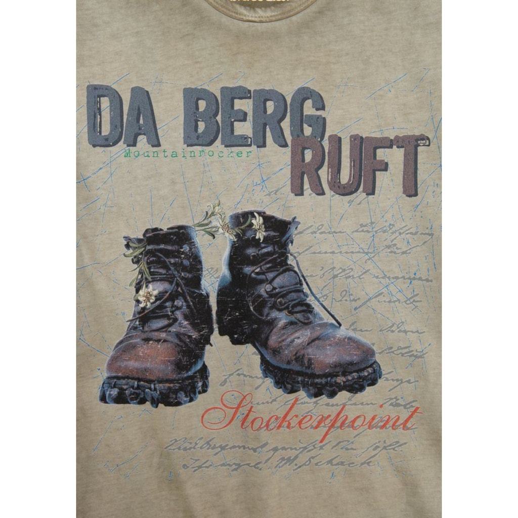 Stockerpoint Trachtenshirt, mit auffälligem Print