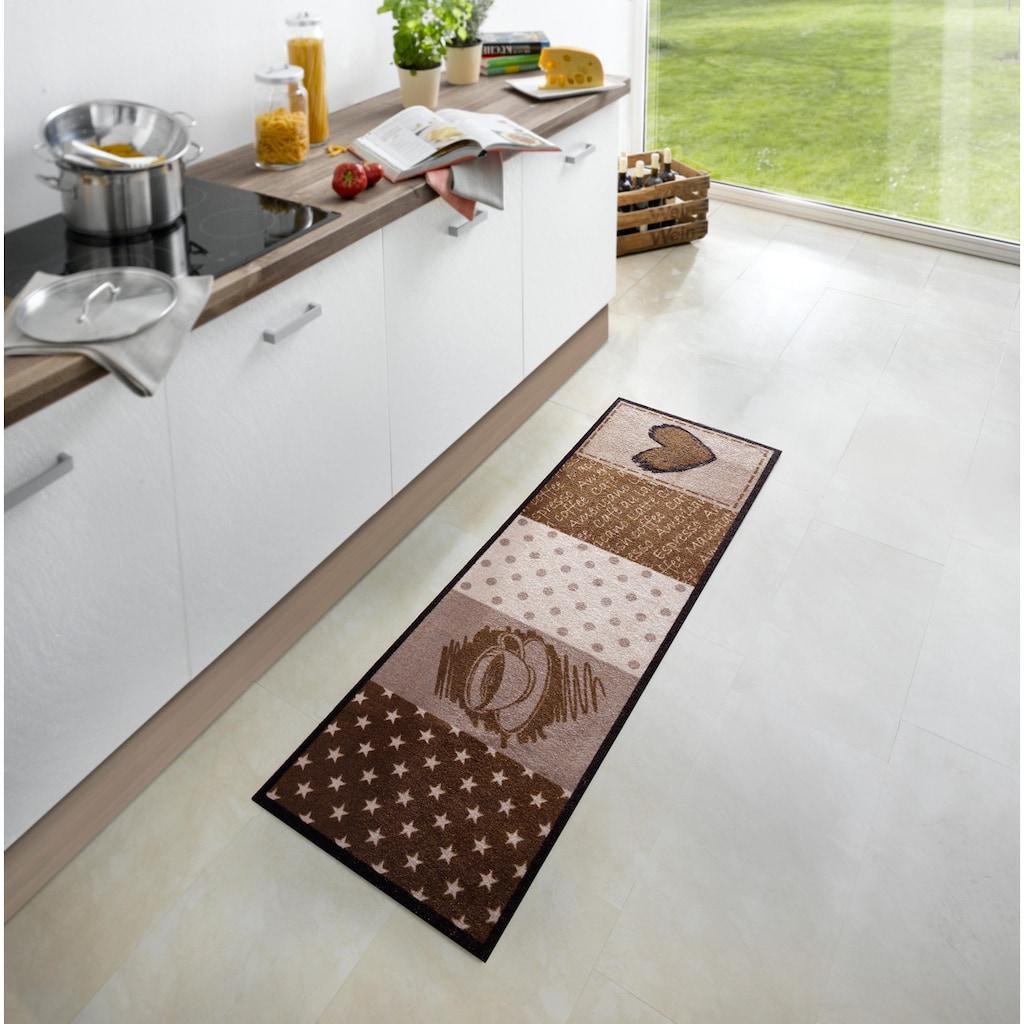 Zala Living Küchenläufer »Coffee Heart«, rechteckig, 5 mm Höhe, waschbar, rutschhemmend