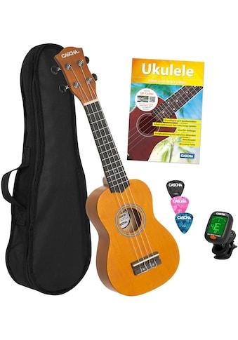 Cascha Ukulele »Sopran, Gelb«, mit Tasche, Übungsheft, Plektren und Stimmgerät kaufen
