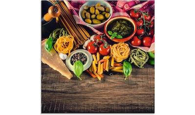 Artland Glasbild »Italienisch mediterrane Lebensmittel« kaufen