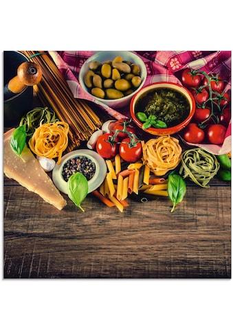 Artland Glasbild »Italienisch mediterrane Lebensmittel«, Lebensmittel, (1 St.) kaufen